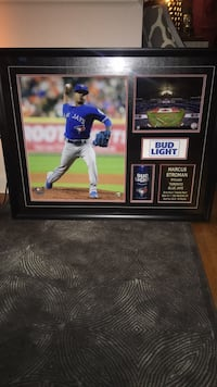 Black wooden framed photo of baseball player Mississauga, L5J 1J5