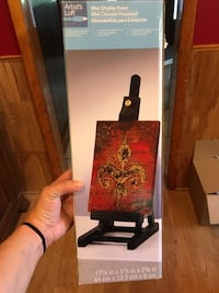 Easel stand red