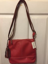 red and brown leather crossbody bag Toronto, M8X 2L2