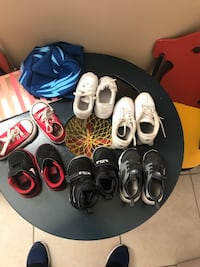 six assorted paired of shoes
