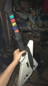 white and black Guitar Hero controller Seattle, 98125