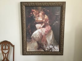 Large Picture 40X30 Painting By Nydia Lozano Fraimed