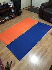 Yoga mats length 5 ft 8 inch's I have 10 blue mats and 10 orange mats 3.00 each High Springs, 32643