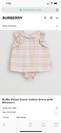 Selling 18 month old brand new baby Burberry dress