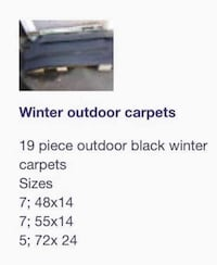 Outdoor winter carpets Montréal, H1R 2K2