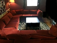 red and black sectional couch Toronto, M1R 2T5