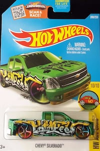 Hot Wheels Chevy Silverado (green) HW Art Cars Oklahoma City