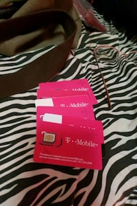 NEW T-MOBILE SIM CARDS 6..WORTH 25$12 A PIECE West Valley City, 84119
