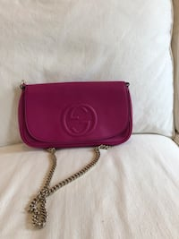 Like new magenta Gucci handbag