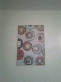 Circle abstract canvas wall hanging Edmonton, T5G 2X6