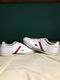 pair of white-and-red Puma sneakers Bowmanville, L1C 5H4
