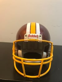 Washington Redskins Replica Helmet for sale. It's in top condition just hanging on my wall for the past five years. Paid $180 for it. You can use it to get autographs or wear it during the game; your choice :-) Price may be negotiable within reason. Woodbridge, 22193