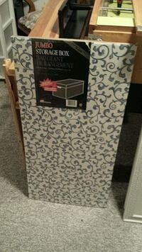 grey and white jumbo cardboard storage box