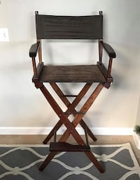 Set of 4 Brown Wooden Director Chairs - Pier One Stockton, 95219