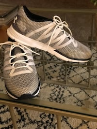 pair of white-and-gray Adidas running shoes Little Rock, 72210