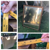 """Looking Glass Antique-Look Mirror 34"""" wide x 40"""" long Chino, 91710"""