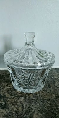Antique Glass Jar with Lid Whitby