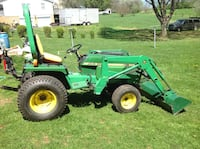 855 john deere tractor with front end loader and attachments Hagerstown, 21740