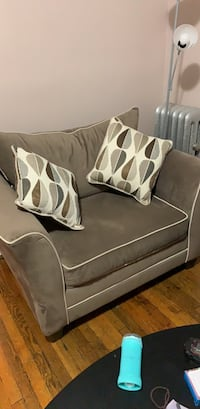 gray and white fabric sofa Yonkers, 10705