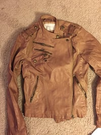 BCBGeneration women's juniors brown leather jacket NWT size M Cockeysville, 21030