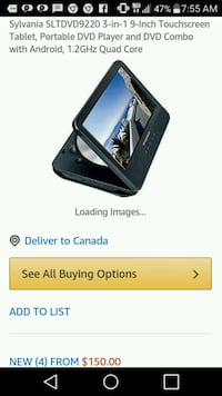 Sylvania Quad-Core Tablet/DVD player combo Edmonton, T5H 2T5