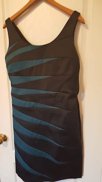 black and blue striped spaghetti strap dress Mississauga, L5V 3B5