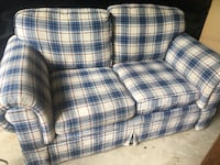 College Sofa and Love Seat Set $25 each both pieces $40 BURKE
