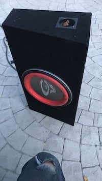 Black and red car subwoofer Los Angeles, 91325