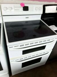 Maytag white electric double oven stove