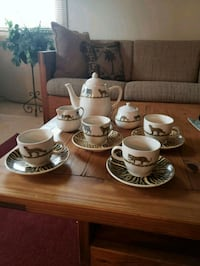 Animal print tea set for 4 Crofton, 21114