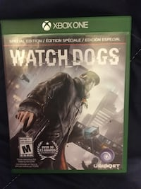 Xbox One Watch Dogs game case Kitchener, N2G 4T6