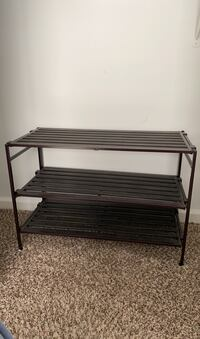 Shoe rack - 3 shelves; can be used as a shelf for other things
