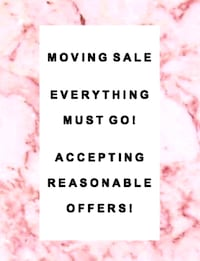 Moving Sale, everything must go! Cambridge, N1R 8K5