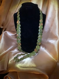 Unakite jasper stone. Necklace