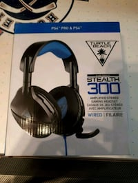 black and blue Turtle Beach corded headphones box Vaughan, L4J 4P8
