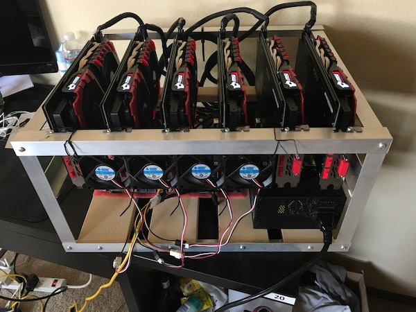 Crytocurrency mining rig 6x1060 gtx 6gb 140+MH/s dual mining Sia coin