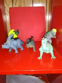 two green and white dinosaur plastic toys Spanish Fork, 84660