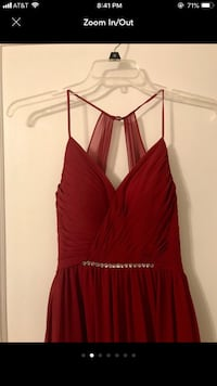 Azazie burgundy formal gown Baltimore, 21227