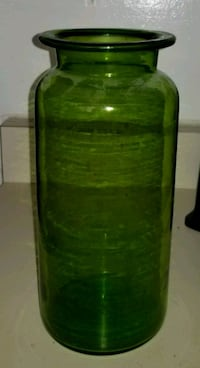 Tall Thick Emerald Green Glass