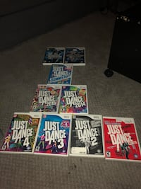 Assorted Wii Just Dance games Toronto, M6H 4B5
