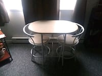 white metal framed white padded chair Holley, 14470