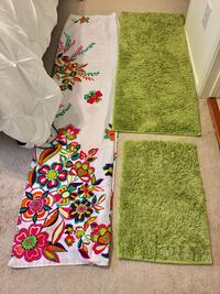 Shower curtain and green rugs Alexandria, 22302