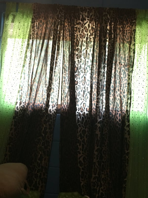 Used Leopard Bed Conopy 2 Leopard Curtains For Sale In Ridgeland