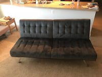 Tufted black leather tufted bed headboard