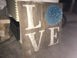 Rustic old barn wood wall decor