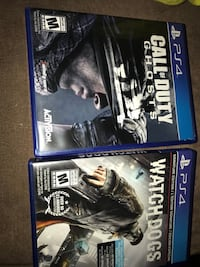 Two sony ps4 game cases Mississauga, L5T 2B7