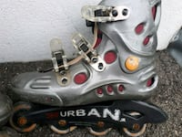 pair of gray inline skates Laval, H7W 2J9