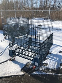 Heavy duty cages on wheels