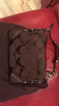 black and brown Coach monogram hobo bag Knoxville, 37922