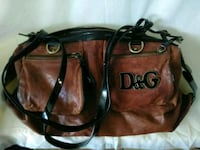 brown and black leather tote bag 2063 mi